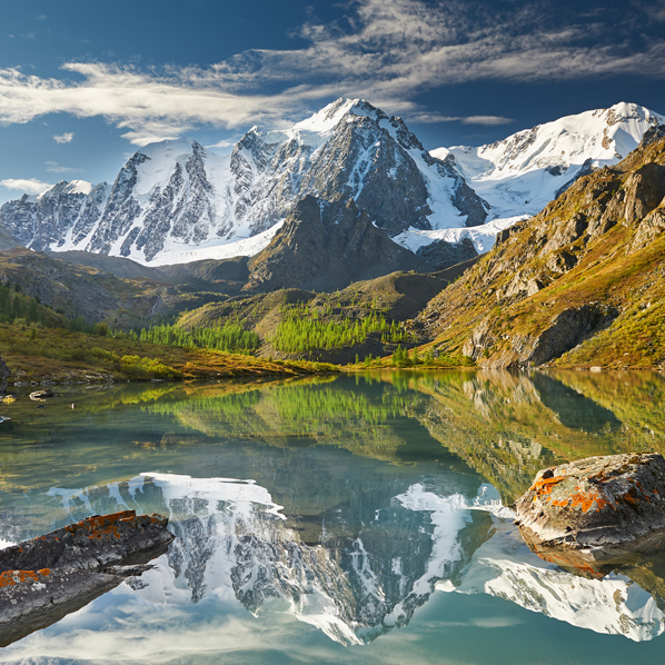 Mountain lake, Russia, Siberia, Altai mountains, Chuya ridge.